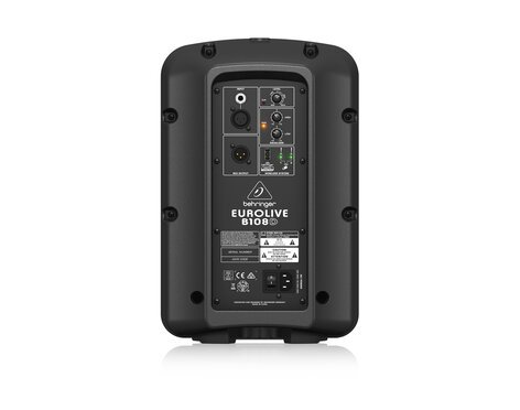 """Behringer EUROLIVE B108D 8"""" 300W 2-Way Active PA Speaker with Ultralink Connectivity B108D"""