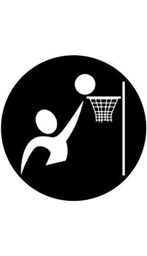 "Rosco Laboratories 78502 ""Basketball"" Pattern Gobo 78502"