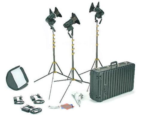 Lowel Light Mfg G5-93TU PRO Power LED 3 Light Tungsten AC Kit G5-93TU