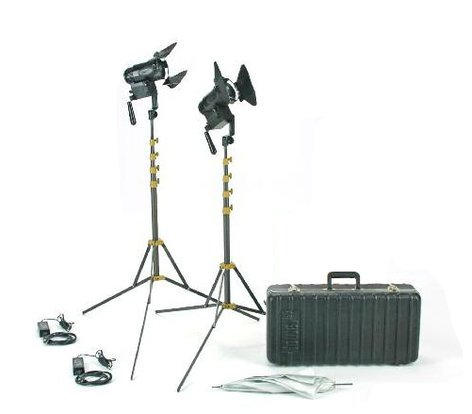 Lowel Light Mfg G5-92TU PRO Power LED 2 Light Tungsten AC Kit with Hard Case G5-92TU