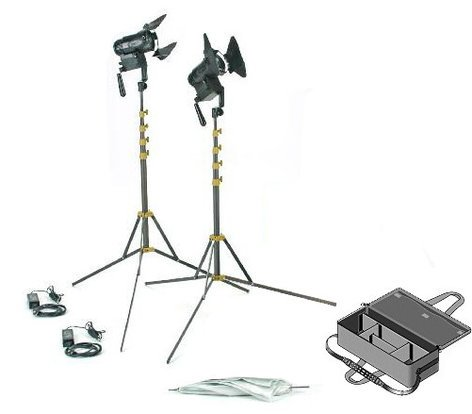 Lowel Light Mfg G5-92DALB PRO Power LED 2 Light Daylight AC Kit with Soft Case G5-92DALB