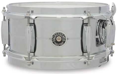 "Gretsch Drums GB4161S 5"" x 10"" Brooklyn Series Chrome Over Steel Snare Drum GB4161S"
