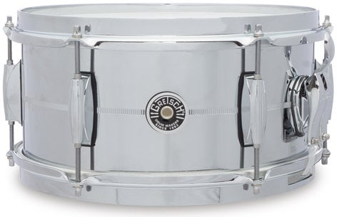"""Gretsch Drums GB4162S 6"""" x 12"""" Brooklyn Series Chrome Over Steel Snare Drum GB4162S"""