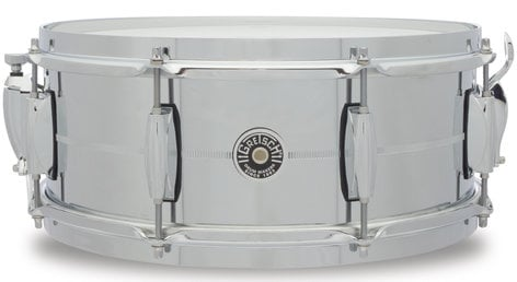 "Gretsch Drums GB4165S 5"" x 14"" Brooklyn Series 8-Lug Chrome Over Steel Snare Drum GB4165S"