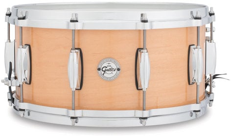 "Gretsch Drums S1-6514-MPL 6.5""x14"" Silver Series 10 Lug 10 Ply Maple Snare Drum S1-6514-MPL"
