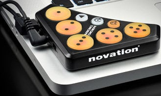 Novation Dicer [EDUCATIONAL PRICING] 1 Pair of Cue Point & Looping Controllers for Serato, Traktor Scratch Pro, etc. DICER-EDU
