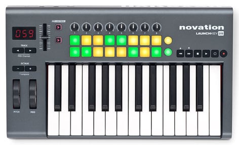 Novation Launchkey 25 [EDUCATIONAL PRICING] 25-Key MIDI Keyboard Controller with Software LAUNCHKEY-25-EDU