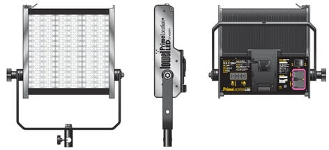 Lowel Light Mfg PL-92ABC Prime Location BiColor 2 LED Light Kit with Gold Mount Battery Plate PL-92ABC