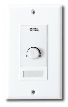 Atlas Sound WPD-VC10K 10k Ohm Level Control Wall Plate in White WPD-VC10K