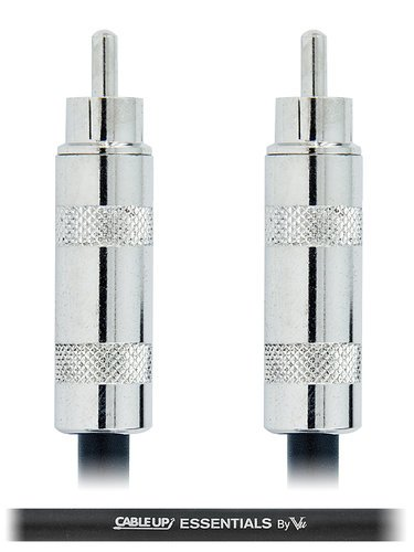 Cable Up by Vu RM-RM-ES-15 15 ft RCA Male to RCA Male Cable with Silver Contacts RM-RM-ES-15