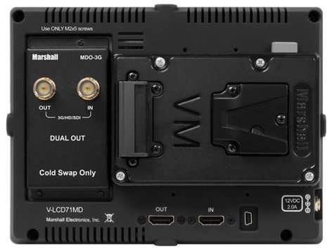 "Marshall Electronics V-LCD71MD-3G 7"" Full Resolution 1920 x 1080 Camera-Top Monitor with Modular Input/Output V-LCD71MD-3G"