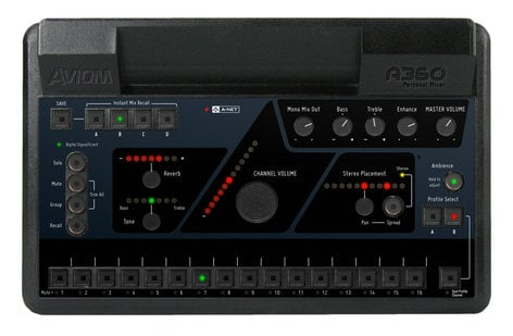 Aviom A360 36-Channel Personal Mixer A360