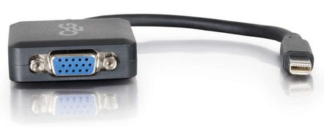 """Cables To Go 54315 8"""" Mini Display Port Male to VGA Female Active Adapter Converter in Black 54315"""