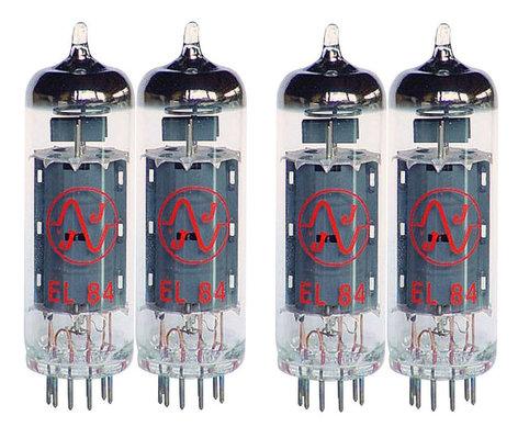 JJ Electronics EL84QJJ Quartet of EL84 Power Vacuum Tubes EL84QJJ
