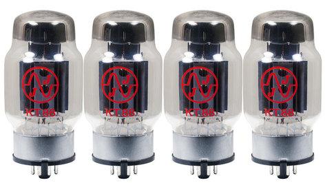 JJ Electronics KT88QJJ Quartet of KT88 Power Vacuum Tubes KT88QJJ