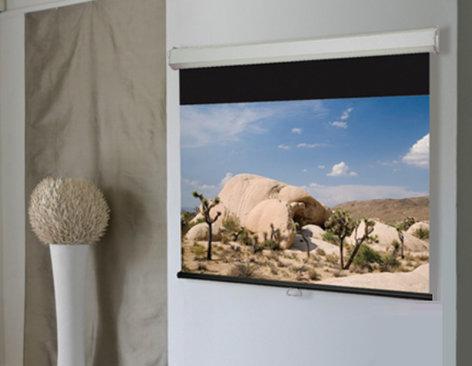 "Draper Shade and Screen 206021  79"" x 140"" HDTV Luma 2 Manual Projection Screen with Matt White Surface 206021"