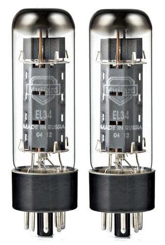 Mullard EL34M-MULLARD Pair of EL34 Power Vacuum Tubes EL34M-MULLARD
