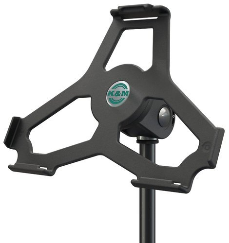 K&M Stands 19714 iPad Air Microphone Stand Mount in Black 19714