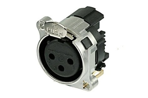 Neutrik NC3FBH2-E  B-Series 3 Pin Female XLR Receptacle NC3FBH2-E