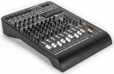 RCF LIVEPAD-12CX L-PAD 12CX 12-Channel Mixer with Expansion Slot, Built-in Digital Effects and 4 Built-In Compressors LIVEPAD-12CX