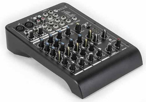 RCF LIVEPAD-6X L-PAD 6X 6-Channel Compact Mixer with Built-In Effects and 2 XLR Inputs LIVEPAD-6X