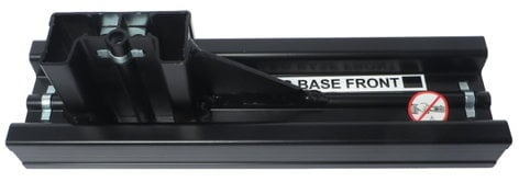 Draper Shade and Screen 385012  Black T-Section Leg for FocalPoint 385012
