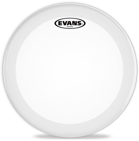 "Evans BD22GB3C  22"" EQ3 2 Ply Frosted Batter Bass Drum Head BD22GB3C"