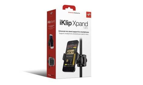 IK Multimedia iKlip Xpand Mini Universal Microphone Stand Mount for Smartphones IKLIP-XPAND-MINI