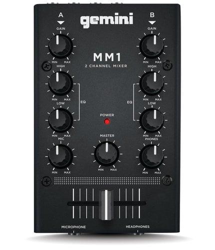 Gemini MM1 2-Channel Compact DJ Mixer MM-1-GEMINI