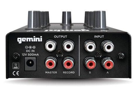 Gemini MM-1-GEMINI 2-Channel Compact DJ Mixer MM-1-GEMINI
