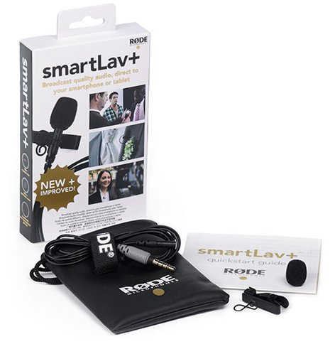 Rode smartLav+ Omnidirectional Lavalier Microphone for Smartphones with TRRS Connector SMARTLAV+