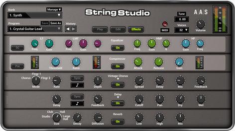 Applied Acoustics Systems String Studio VS-2 String Modeling Software Plug-in STRING-STUDIO-VS2