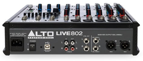 Alto Professional Live 802 8-Channel 2-Bus Compact Mixer with USB Interface and Built-In DSP Effects LIVE-802