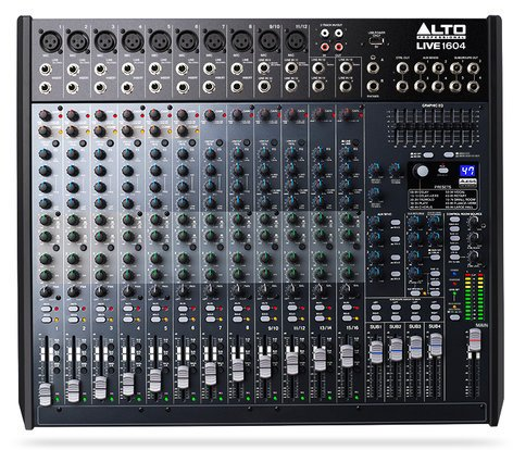 Alto Professional LIVE-1604  16-Channel 4-Bus Mixer with USB Interface and Built-In DSP Effects LIVE-1604