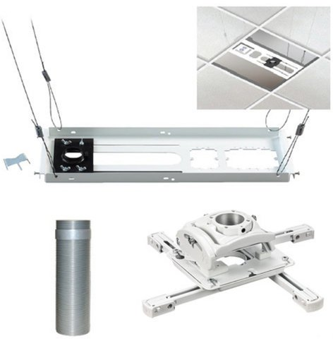 Chief Manufacturing KITEZ006W Universal Ceiling Projector Mount Kit in White KITEZ006W