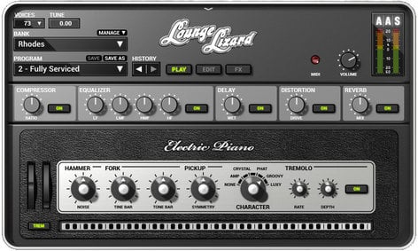 Applied Acoustics Systems LOUNGE-LIZARD-EP4 Lounge Lizard EP4 Electric Piano Virtual Software Instrument LOUNGE-LIZARD-EP4