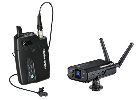 Audio-Technica ATW-1701/L System 10 Portable Camera-Mount Digital Wireless Bodypack System with MT803cW Lavalier Microphone ATW-1701/L