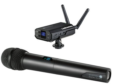 Audio-Technica ATW-1702 System 10 Portable Camera-Mount Digital Wireless Handheld System with ATW-T1002 Handheld Transmitter ATW-1702