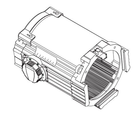 ETC/Elec Theatre Controls 42550LT-1  Source Four 25-50 Zoom Lens Tube Assembly in White 42550LT-1