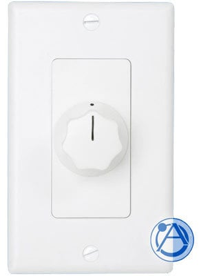 Atlas Sound AT10D Attenuator 10w 70v Decora style with white and ivory faceplates AT10D