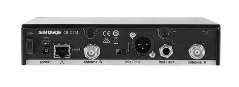 Shure QLXD4 Single-Channel Half-Rack Digital Wireless Receiver QLXD4