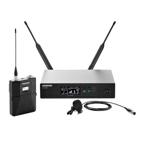 Shure QLXD14/84 Digital Wireless Lavalier Microphone System with Shure WL184 Microphone QLXD14/84