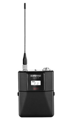 Shure QLXD14 Digital Wireless Bodypack System with Shure WA305 Instrument Cable QLXD14