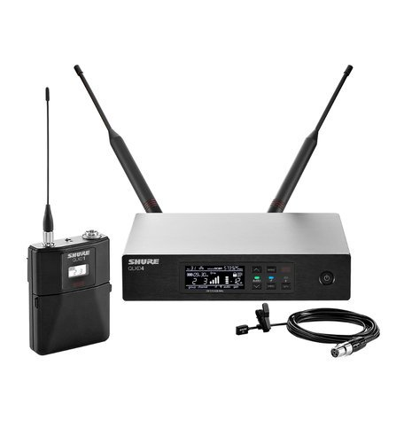 Shure QLXD14/93 Digital Wireless Lavalier Microphone System with Shure WL93 Microphone QLXD14/93