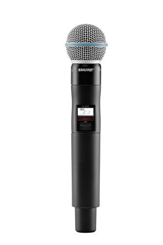 Shure QLXD2/BETA58A QLX-D Digital Wireless Handheld Transmitter with BETA58A Cartridge QLXD2/B58
