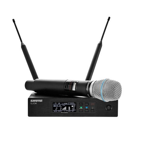Shure QLXD24/B87A Digital Wireless Handheld Microphone System with BETA87A Cartridge QLXD24/B87A