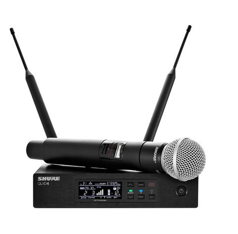 Shure QLXD24/SM58 Digital Wireless Handheld Microphone System with SM58 Cartridge QLXD24/SM58
