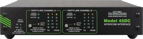 Studio Technologies Model 45DC Dante To Dual PartyLine Intercom Interface MODEL-45DC