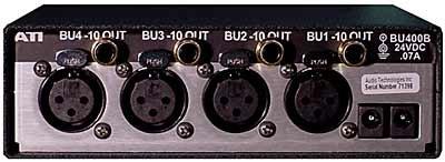 Audio Technologies Inc. BU400B Unidirectional 4-Channel Interface Converter with XLR to RCA BU400B