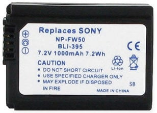 Empire Scientific BLI-395  7.2V Sony NP-FW50 Equivalent Replacement Lithium Ion Battery BLI-395